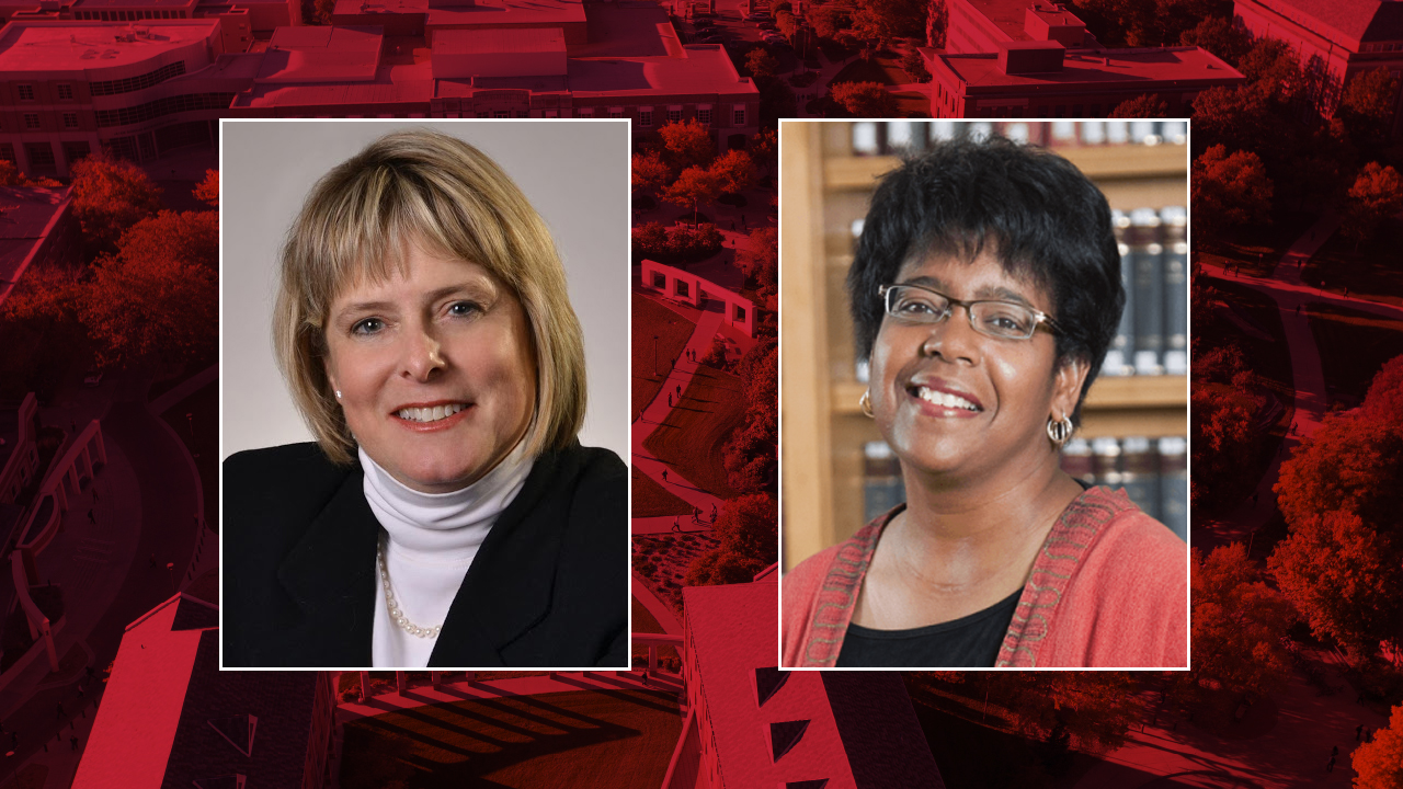 Nebraska's Susan Swearer (left) and Catherine Lee Wilson are leading the review of the university's bias protocols. Swearer is Willa Cather Professor of Educational Psychology and a nationally recognized expert on bullying. Wilson is associate professor of law and chair of the Chancellor's Commission on the Status of People of Color.